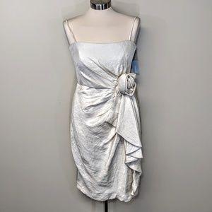 London Times Draped Party Dress